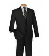 2 Button Black Suit