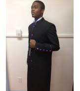 Robe Black with Purple Trim