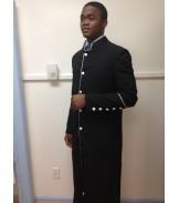 Robe Black with White Trim