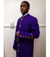 Robe Purple with Gold Trim