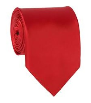 Solid Red Tie